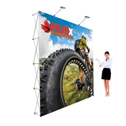 10'x10′ Fabric Pop Up Trade Show Display Straight Graphic Package