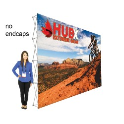 "15ft X 10ft RPL Fabric Pop Up Display - 89""h Straight Graphic Package"