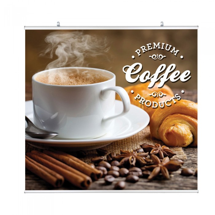 Hanging Clamp Bar Banner Display | PRINT AND STAND PACKAGE