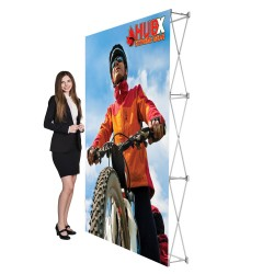 """5 ft. RPL Fabric Pop Up Display - 89""""h Straight Graphic Package"""