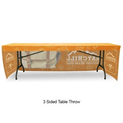 Fitted 8ft Table Throw Full Color Printing