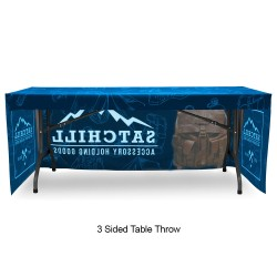 Fitted 4ft Table Throw Full Color Printing