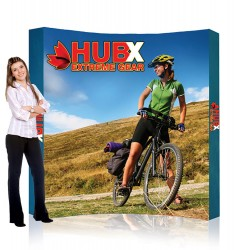 "8 ft. RPL Fabric Pop Up Display - 89""h Curve Graphic Package"