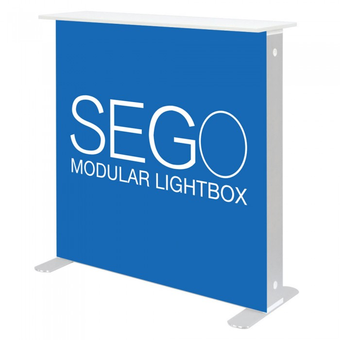 SEGO 3.3 x 3.3ft. Modular Lightbox Counter - Double-Sided Graphic Package