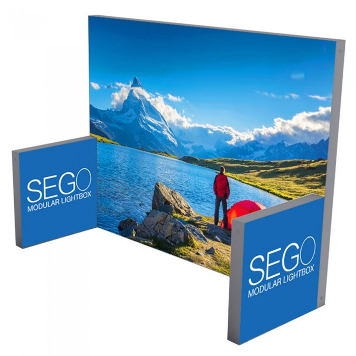 SEGO 10ft x 10ft. Lightbox Modular Display Double Sided Conf. E